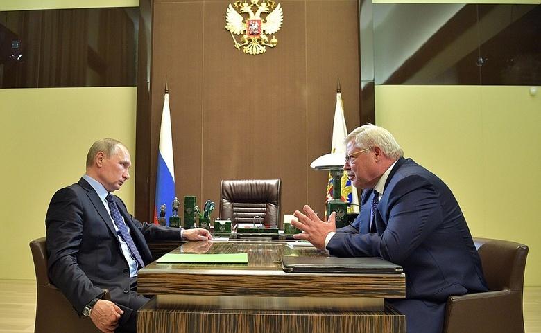 Встреча Владимира Путина и Сергея Жвачкина, 2017 год