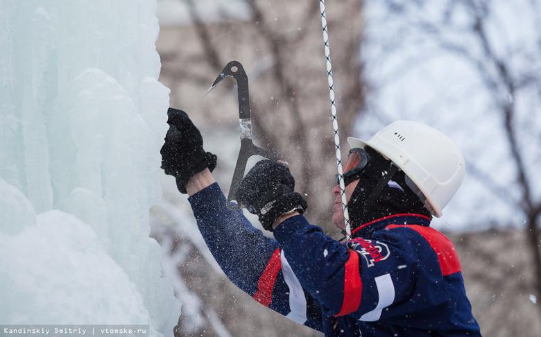 Томичи взяли 7 медалей на Всероссийских соревнованиях по ледолазанию