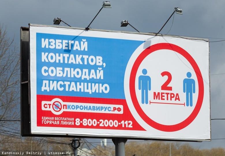 Коэффициент распространения COVID в Томской области — 0,72