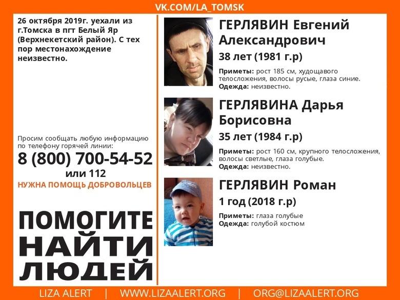 «Лиза Алерт»: семья с годовалым ребенком пропала в Томской области