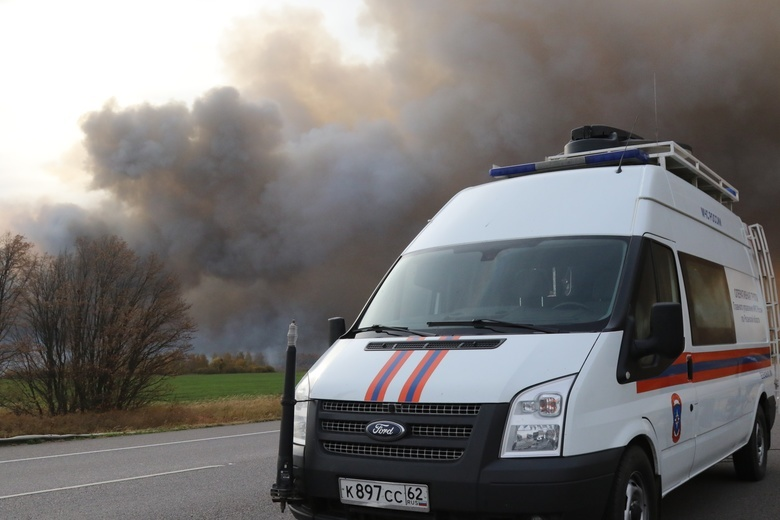 Пожар на складе боеприпасов под Рязанью. Что известно