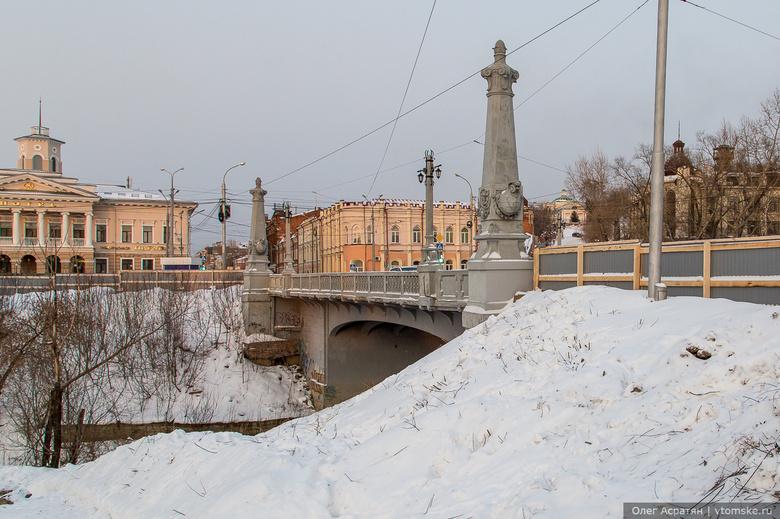 Реконструкция набережной Ушайки приостановлена на период паводка