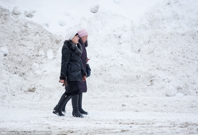Жители Томска жалуются на заваленные снегом дворы