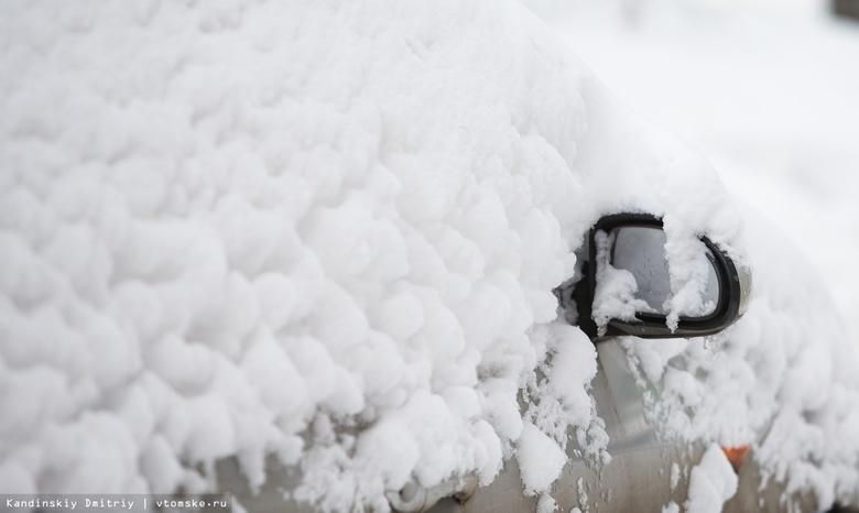 Штормовое предупреждение объявили в Томской области из-за гололедицы и снега