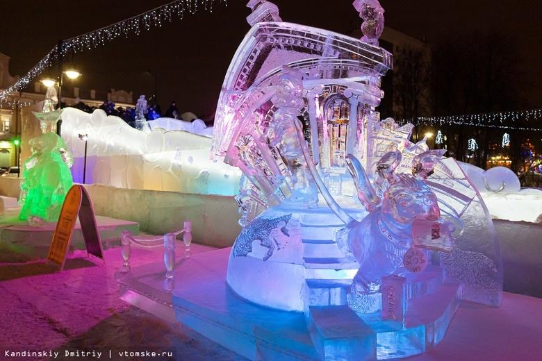 Ледовый городок на Новособорной демонтируют раньше срока из-за потепления
