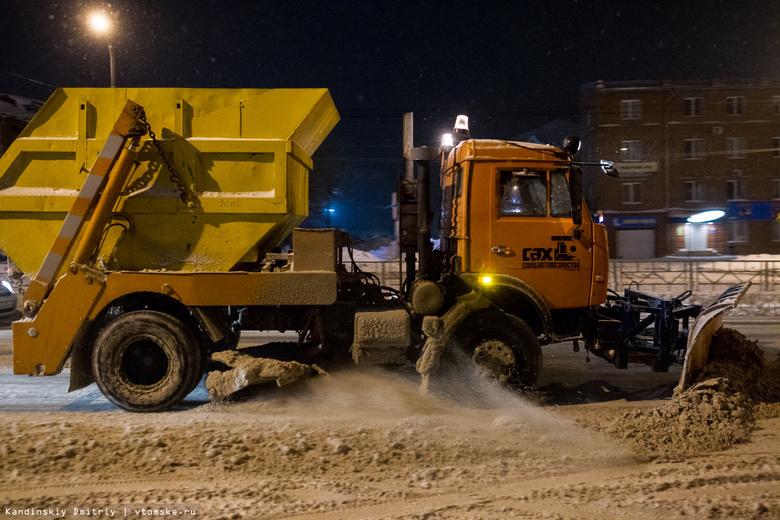 «Спецавтохозяйство» уберет снег на 10 улицах Томска в ночь на четверг