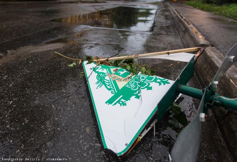 Десятки домов Томска остались без электричества из-за штормового ветра