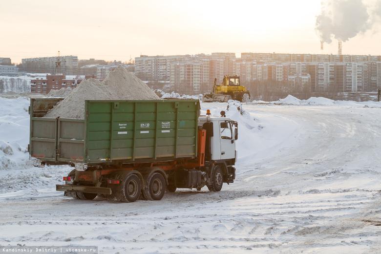 САХ вывез более 30 тыс тонн снега из зон возможного подтопления в Томске