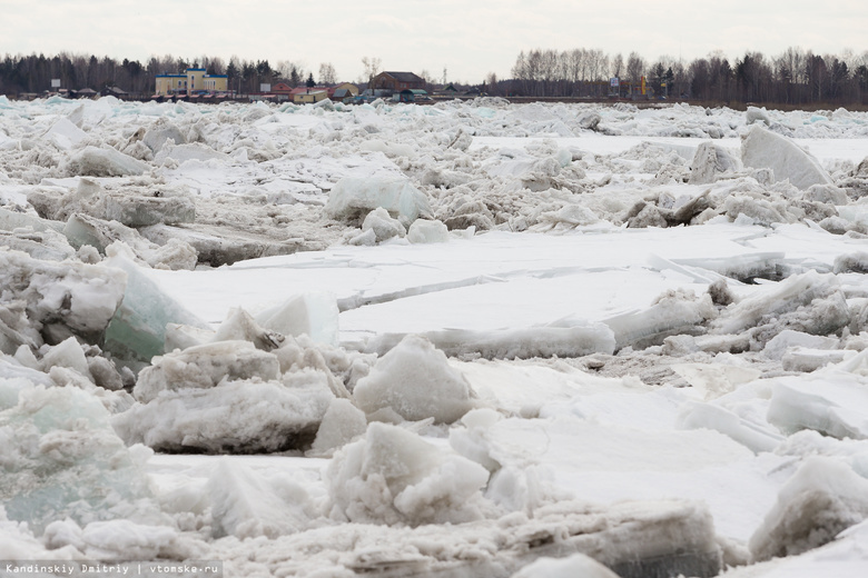 Ледоход на Оби пересек границу Томской области
