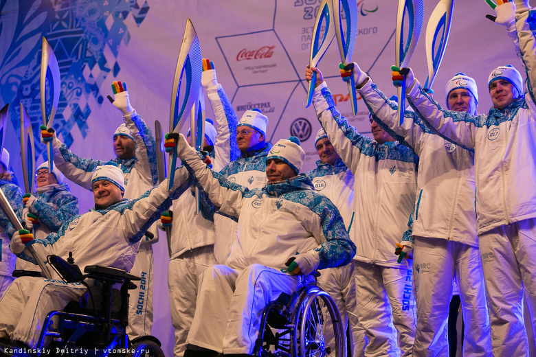 Северчане встретили и проводили огонь Паралимпийских Игр в Сочи (фото)