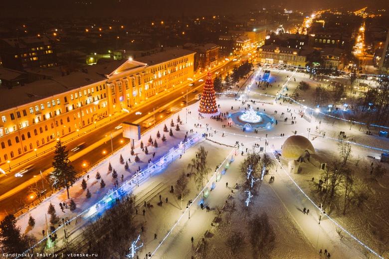 Старинные здания Томска изо льда украсят площадь Новособорную к Новому году