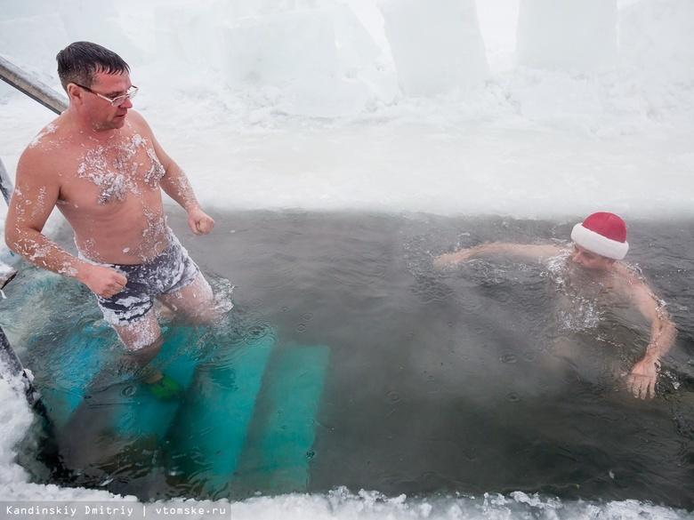 Водичка теплая! Томские моржи искупались в проруби в 40-градусный мороз