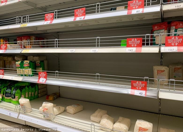 Магазины увеличили поставки товаров из-за высокого спроса на гречку и туалетную бумагу