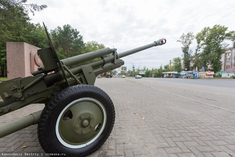В Лагерном саду установили орудия времен Великой Отечественной войны (фото)