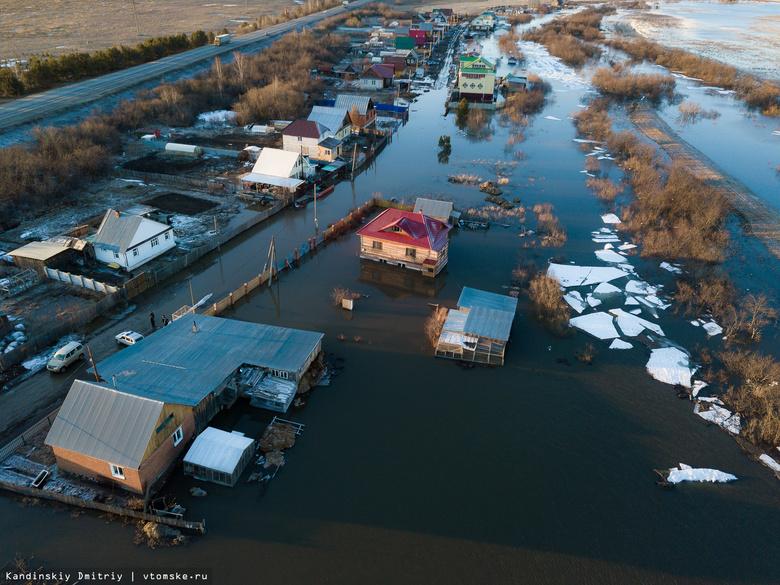 Вода подступила к 31 дому в Черной Речке из-за разлива Томи