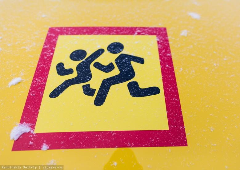 Шумовые полосы появятся вблизи пешеходных переходов у томских школ в 2020г