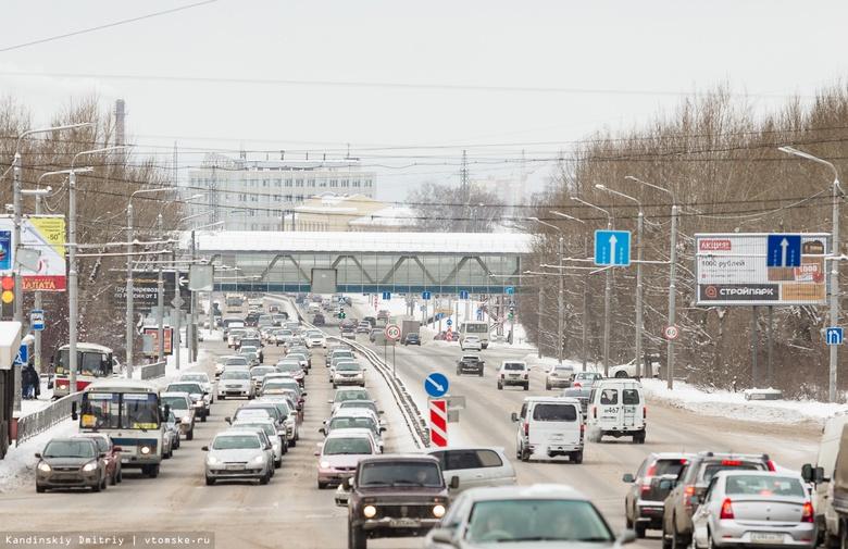 Томск встал в 10-балльных пробках из-за выпавшего снега