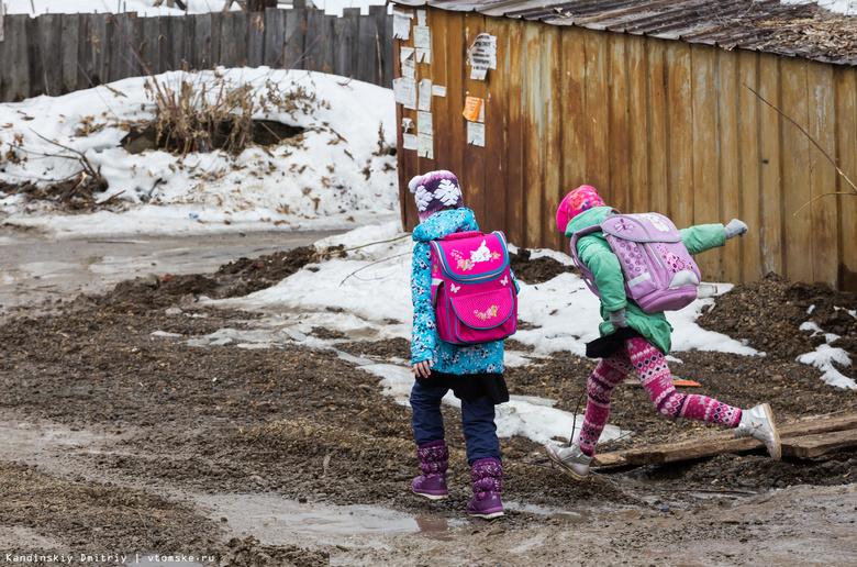ВТомске школьница провалилась вяму сводой