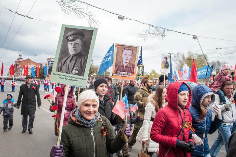 Более 20 тыс томичей прошли в колонне «Бессмертного полка»