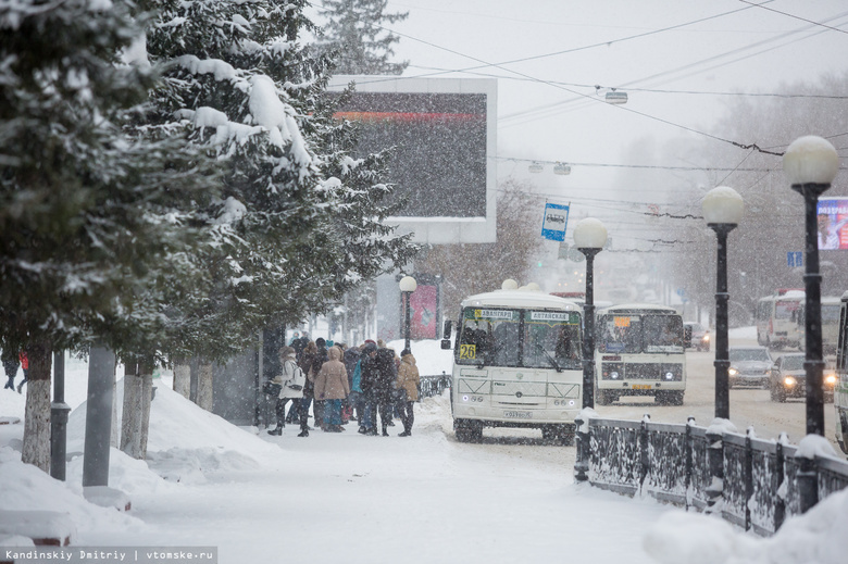 Химреагенты впервые применят на остановках Томска зимой