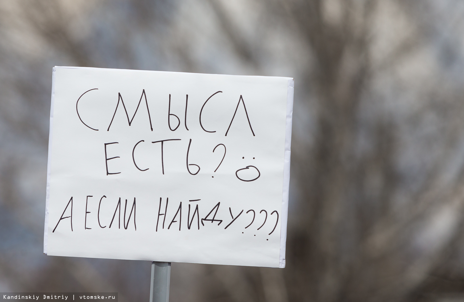 Монстрация в Томске: «мы вам не они», или «телега будет за нами»