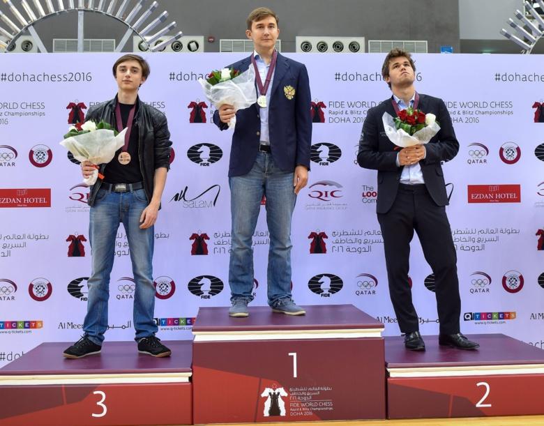 Гроссмейстер Сергей Карякин впервые в карьере стал чемпионом мира по блицу