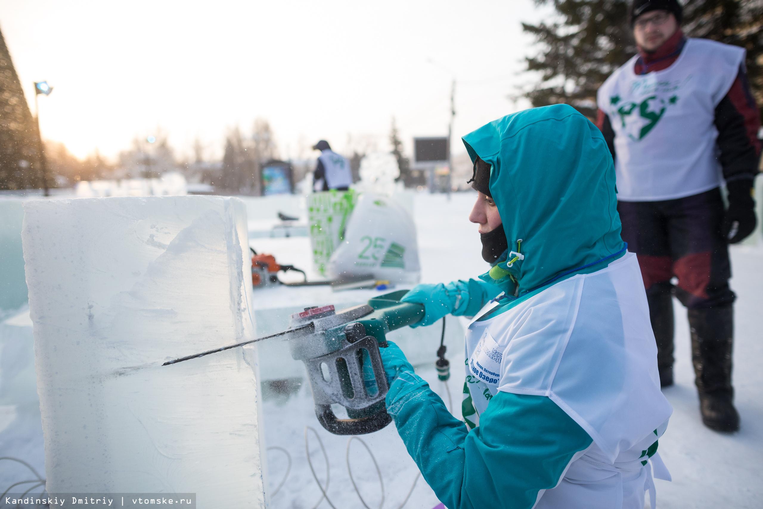 Конкурс на лучшую ледовую скульптуру стартовал в Томске