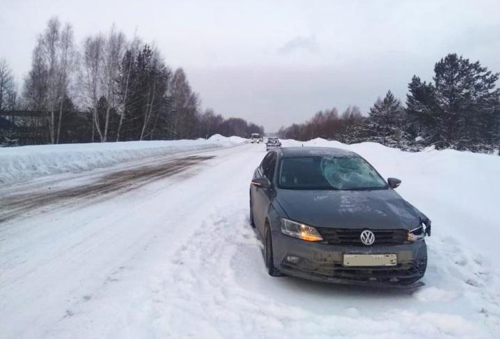 Водитель Volkswagen насмерть сбил мужчину в районе «Томскнефтехима»