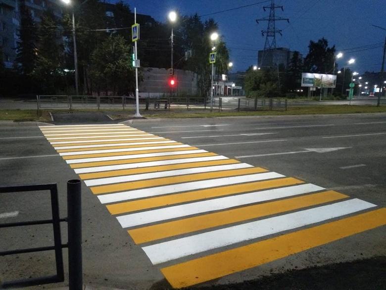 Пешеходный переход на Южной в Томске заработал