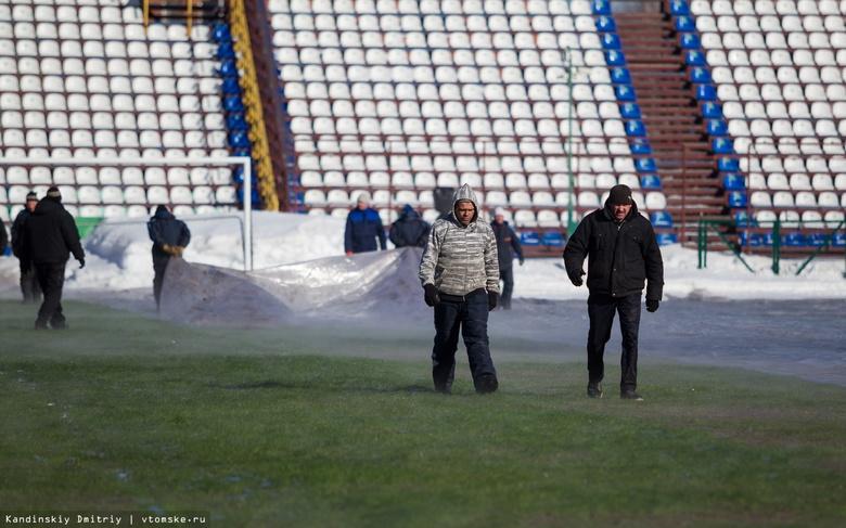 Специалисты подготовили газон стадиона «Труд»к весенним матчам Олимп-ФНЛ