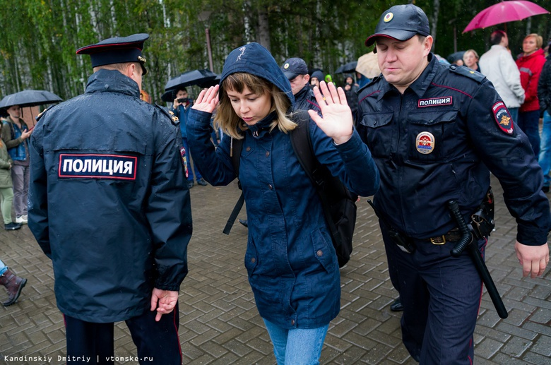 Около 20 человек задержаны в Томске на акции Навального против пенсионной реформы