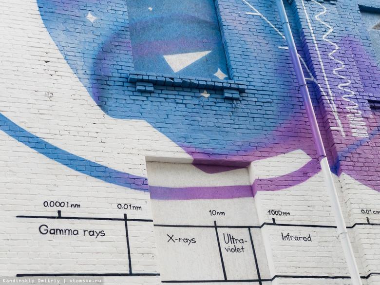 «Свет науки»: граффити о физике украсило заброшенное здание напротив томской школы