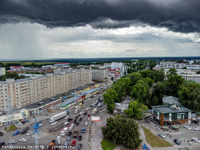 Оперативное предупреждение объявили по Томской области из-за ливней и гроз