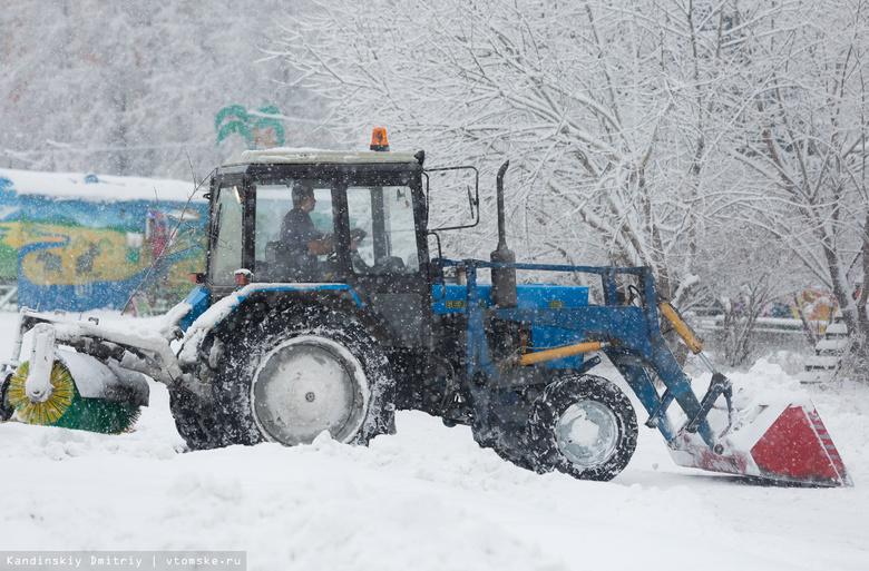 Томичам пришлось заказывать трактор, чтобы проехать в поселок Росинка в метель