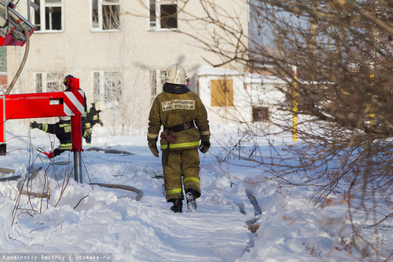 В бывшем училище связи в Томске вновь произошел пожар