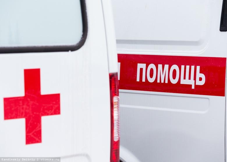 Мотоциклист врезался в такси в Томске
