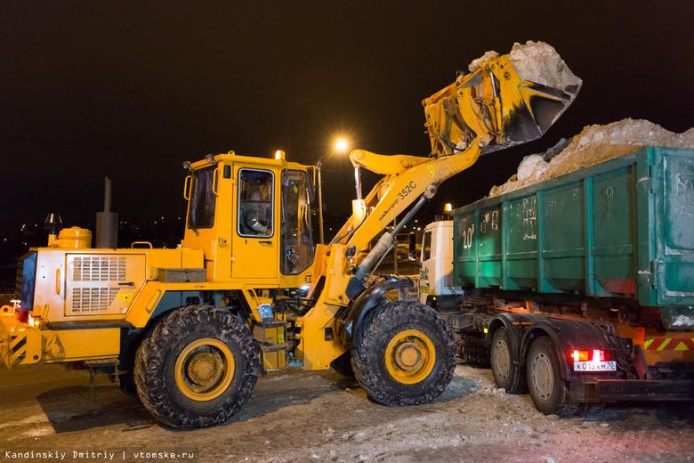 В ночь на четверг «САХ» уберет снег с нескольких улиц и остановок Томска