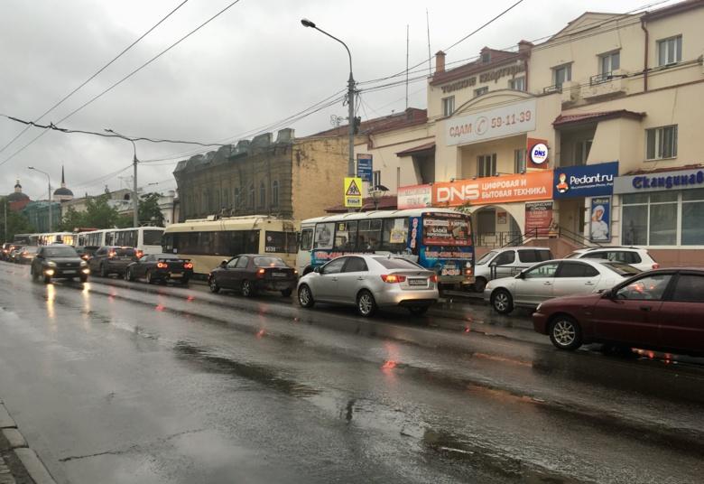 Пробки в 10 баллов образовались в Томске в четверг вечером