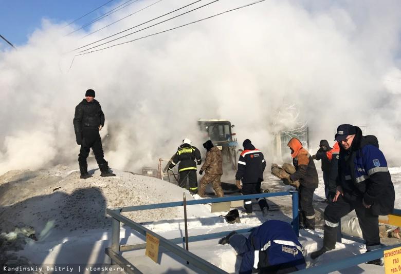 Несколько улиц Томска залило кипятком из-за порыва на теплотрассе