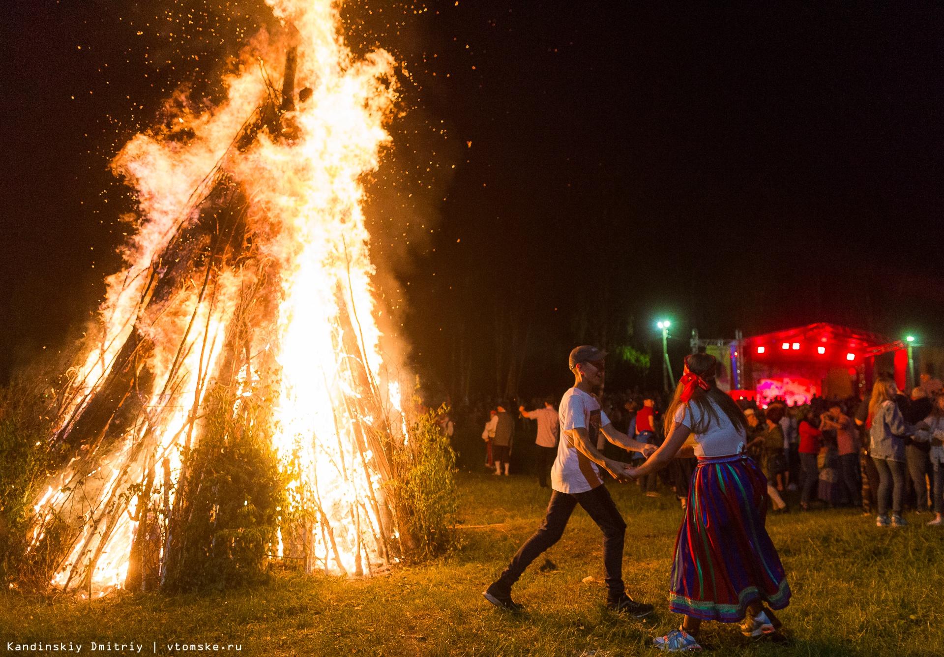 Танцы у костра, купальские венки и эстонская рига: Янов день отметили в Томской области