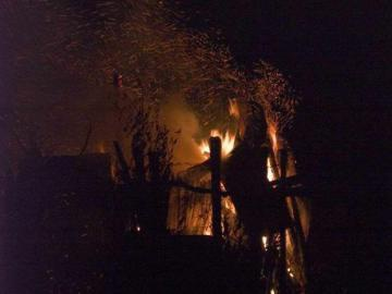Полицейские задержали поджигателя, накануне ночью устроившего пожар в поселке Мирном
