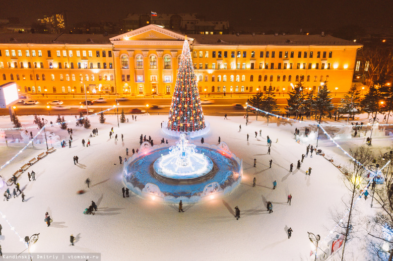 Сияющий город: как улицы и скверы Томска подготовили к Новому году