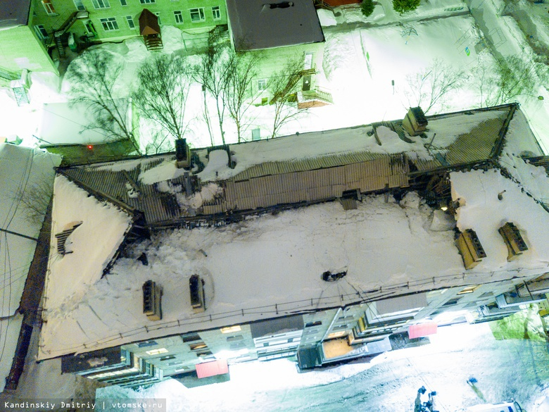 В Томске частично обрушилась крыша пятиэтажного дома