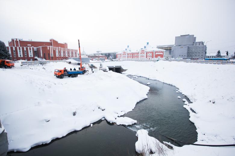 Дальнейший график работ на набережной Ушайки в Томске определят в январе