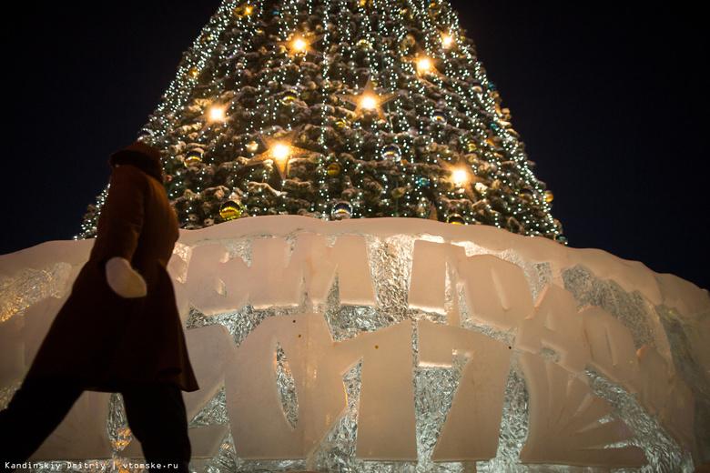 Мэр зажег на главной елке Томска новогодние огни