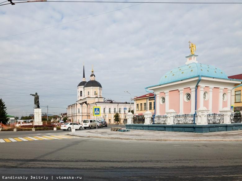 Укладка гранита на тротуарах у площади Ленина завершится до ноября