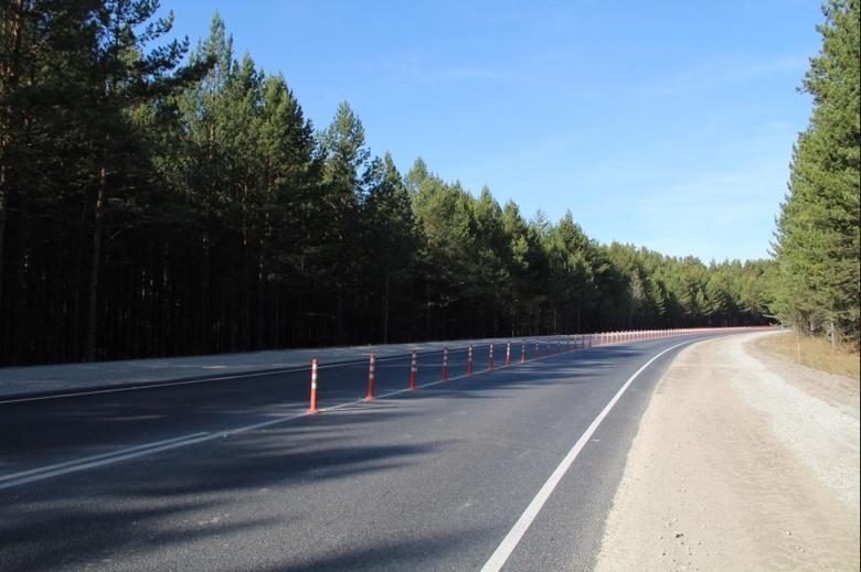 Гибкие столбы установили на трассе между Новосибирском и Томском