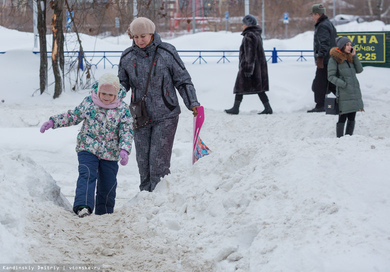 Синоптик: высота снежного покрова в Томске превысила норму