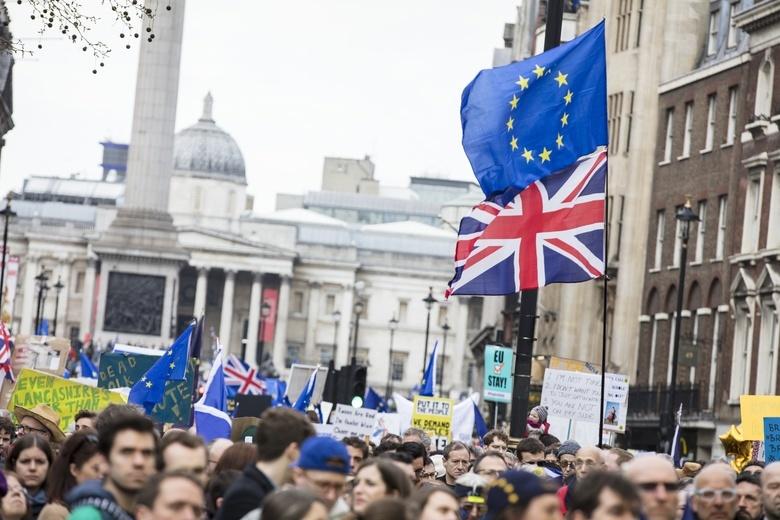 Митинг против выхода Великобритании из Евросоюза, март 2019 года